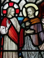 Christ and St Peter  by Margaret Rope