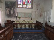 sanctuary with its wall paintings