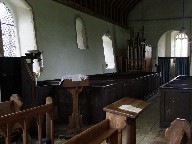 box pews from the chancel