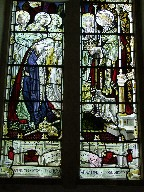 Christ crowning Queen Victoria while Faith, Hope, Charity and Compassion look on