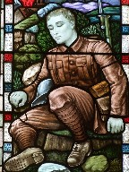 Reginal Wilder memorial window (detail)