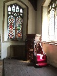 pulpit in a corner