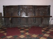 bench made out of rood screen